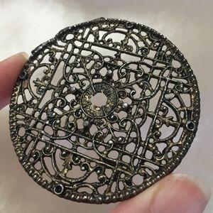 Metal Mandala Amulet Brass tone